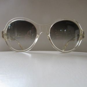OLIVER PEOPLES Lipsofire Clear  Round Sunglasses